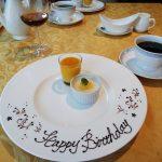 誕生日のお祝い